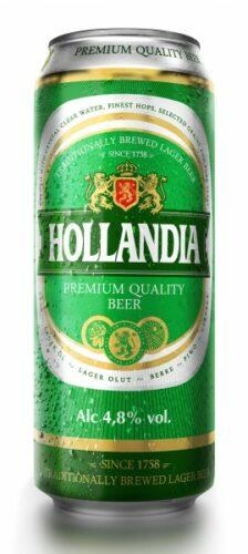 Пиво Hollandia 0,45л ж/б