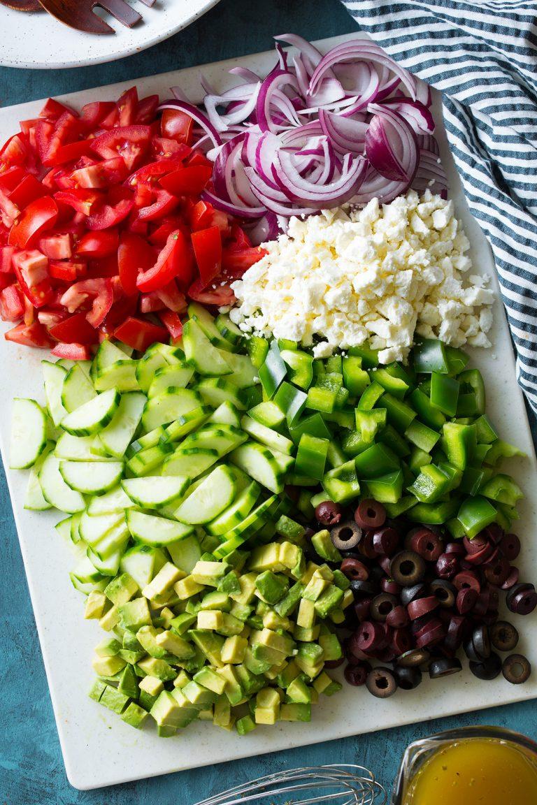 ингридиенты для греческого салата